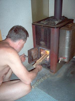Vedeldad bastu ventilation
